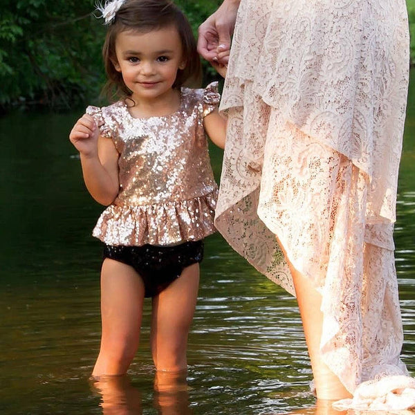 Rose Gold Sequin Bloomers