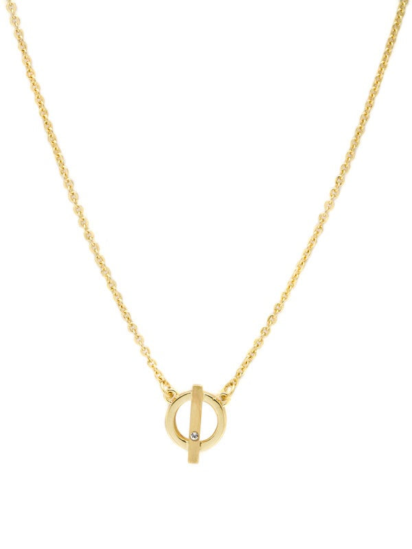 LJ Gold Circle Necklace