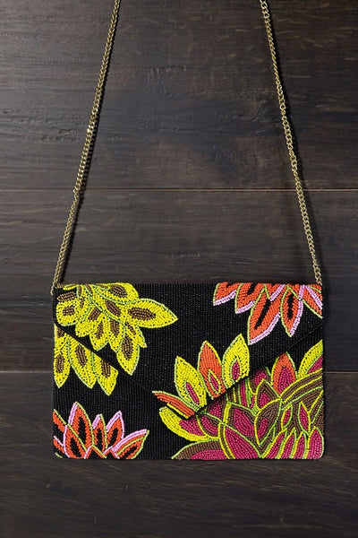 Flower Print Bead Bag
