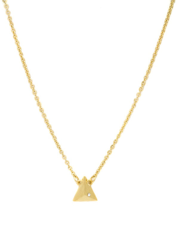 LJ Gold Pyramid Necklace