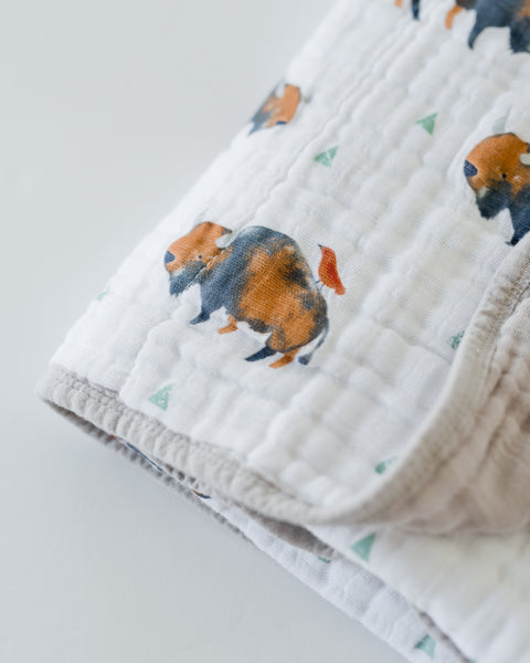 Little Unicorn - BUFFALO Cotton Muslin Quilt
