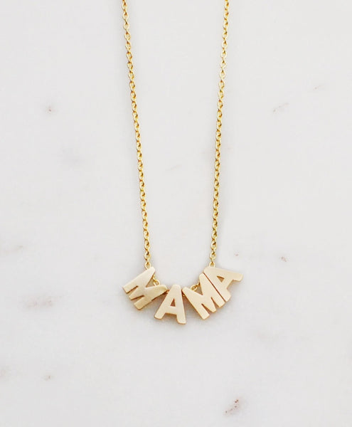 "Helmsie - I'm ""MAMA"" Necklace - Gold"