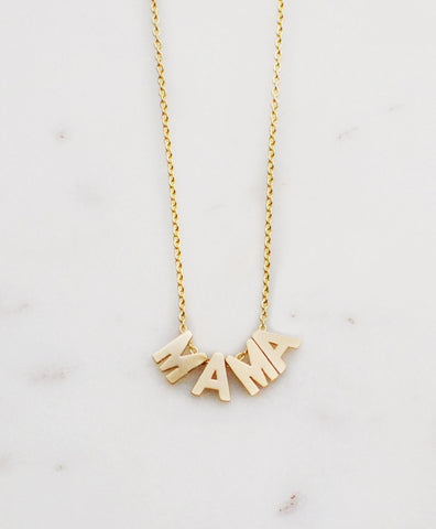 I'm MAMA Necklace in Gold