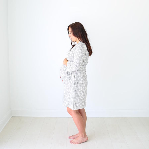 Posh Peanut - RIVERS GREY Robe