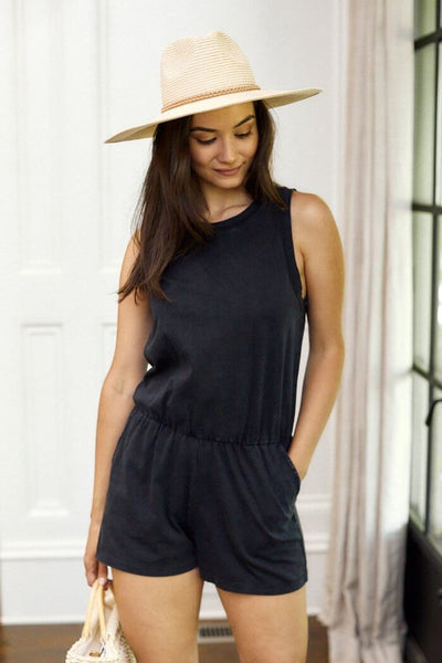 The Adira Cotton Romper by Z SUPPLY