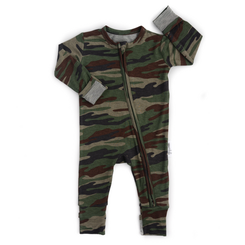 Camo Zippered One Piece