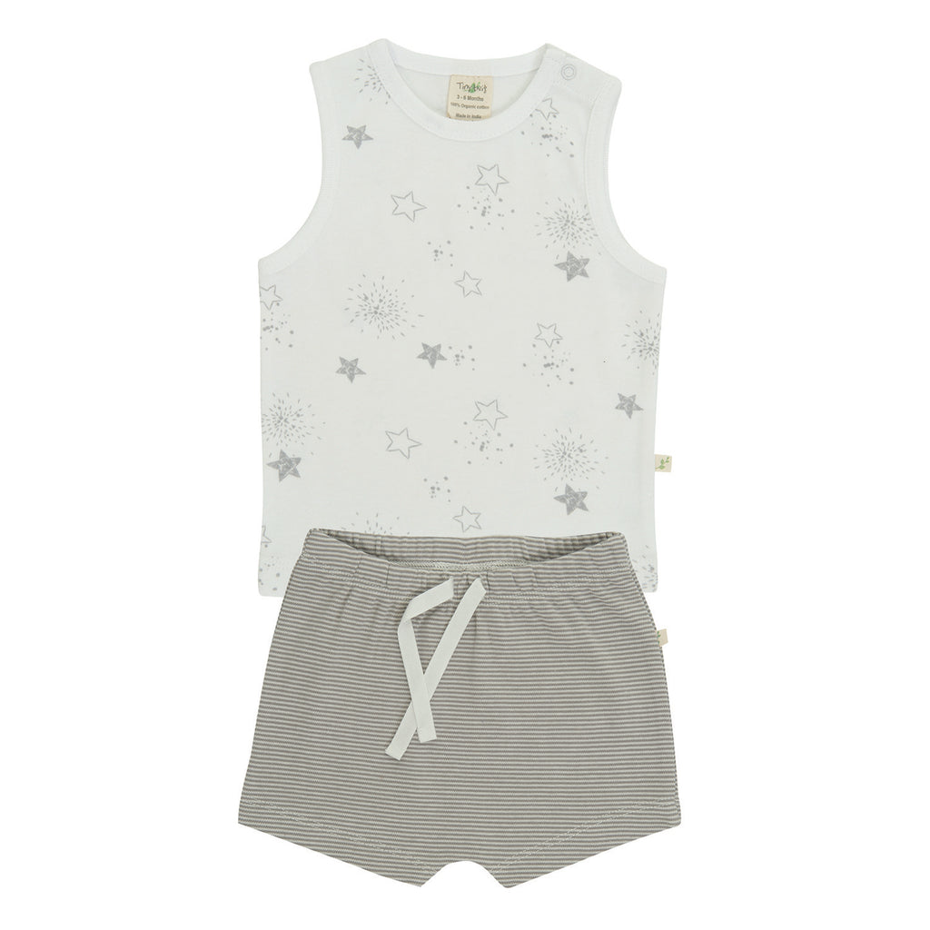 Tiny Twig - Little Stars - Singlet Set