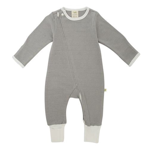 Tiny Twig - Granite Stripes - Long Sleeve Zipsuit