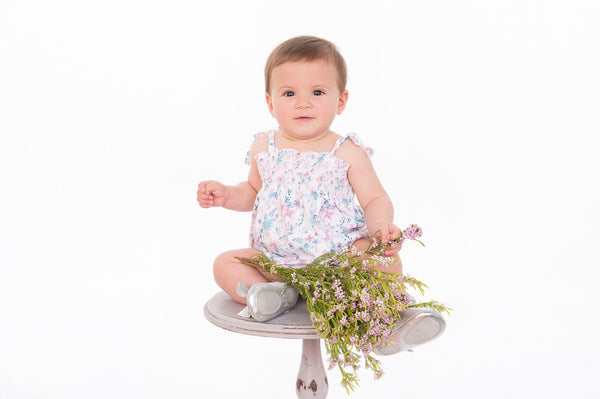 Tiny Twig - Pretty Petals - Smocked Bodysuit