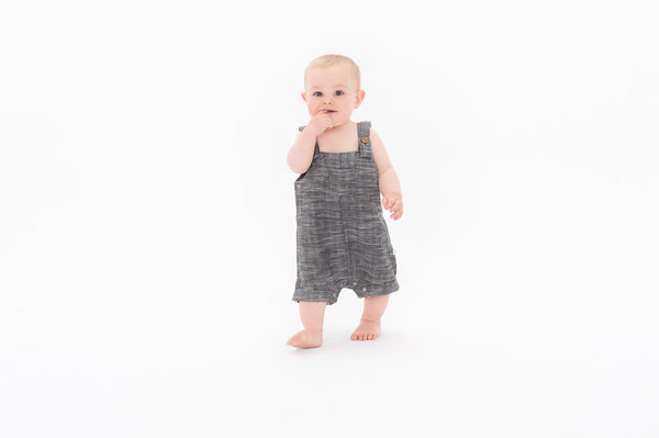 Tiny Twig - Grey Chambray - Overalls