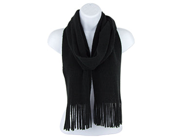 Ultra Soft Classic Knit Scarf w/ Fringe (more colors)