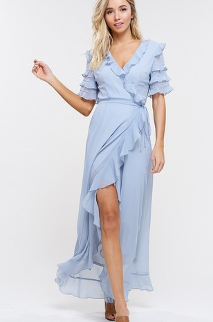 Cloud Nine Wrap Maxi Dress