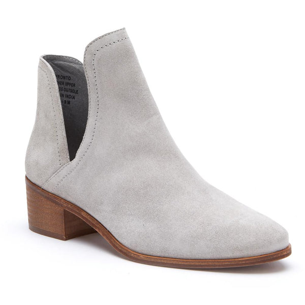 Pronto Grey Suede Ankle Booties by Matisse Coconuts Collection