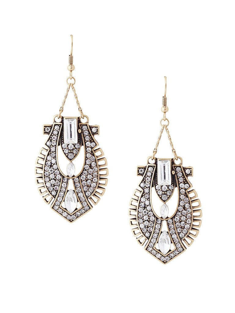 Helena Drop Statement Earrings