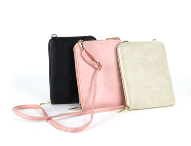Vertical Zip Crossbody Bag