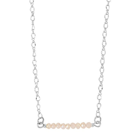 Simple Facet Bead Bar Necklace (more colors)