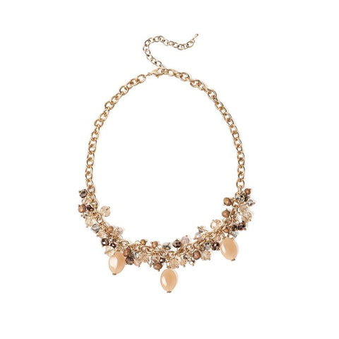 Cluster Bead Statement Necklace