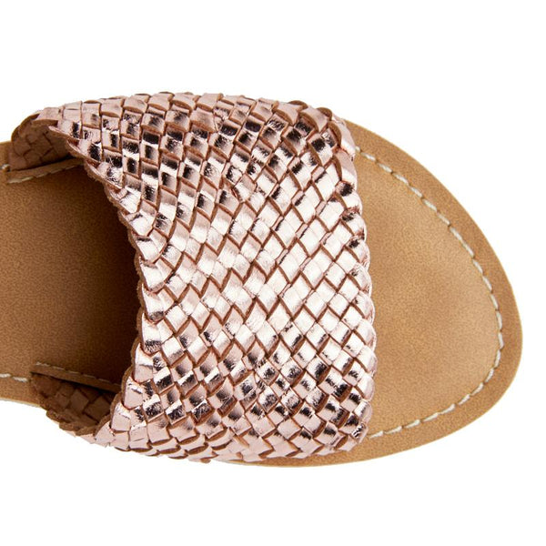 Rose Gold Zuma Slide Sandal by Matisse Coconuts Collection