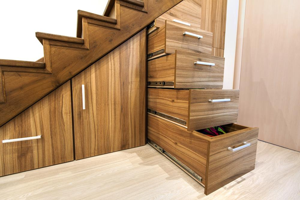 Heavy duty drawer runners - best solution for drawers under the stairs.