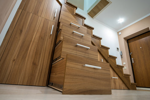 heavy duty drawer runners under stairs