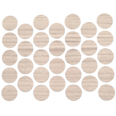 Screw cover caps Self-Adhesive - Larch 18mm