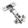 Hinge, H0 Mounting Plate with EURO Screws, Overlay Doors