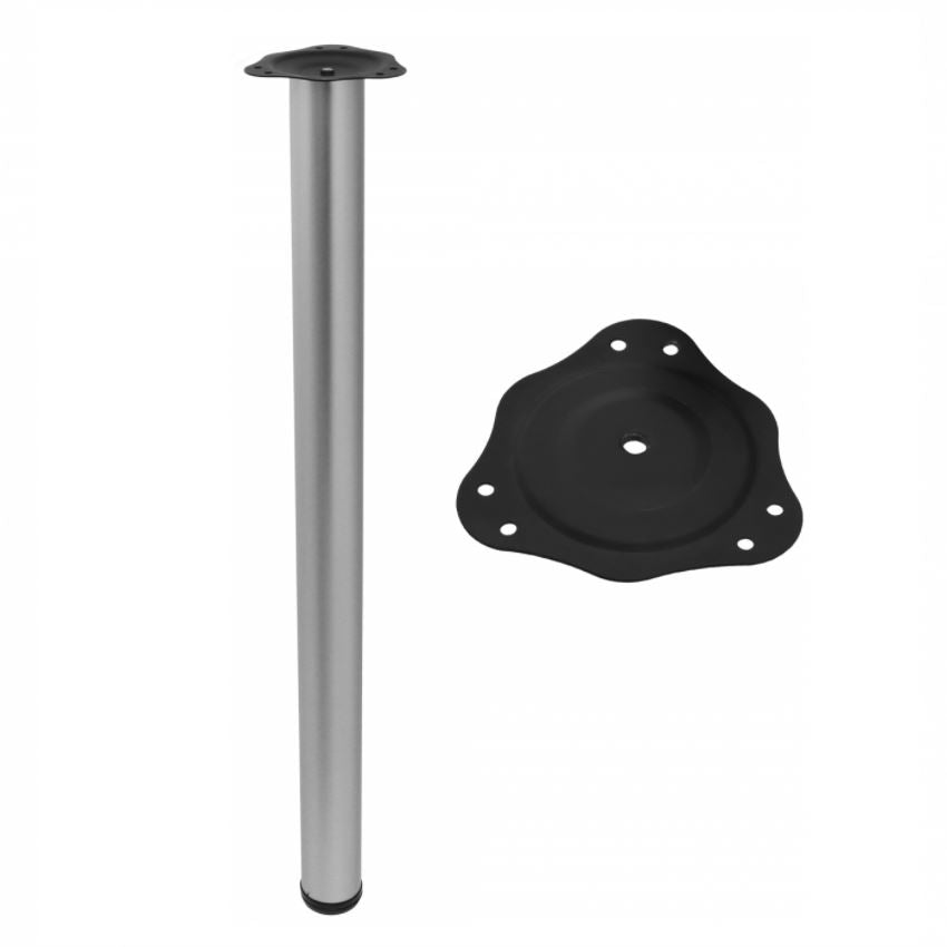 Adjustable Furniture Leg 820mm - Aluminium