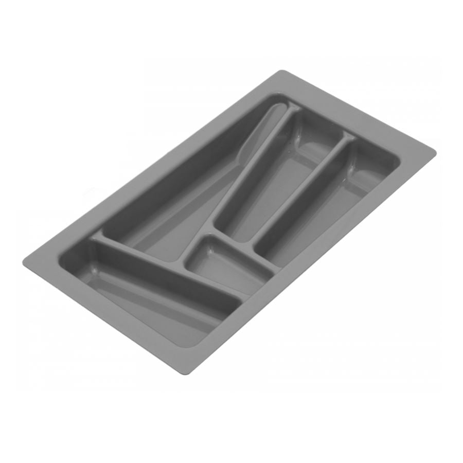 Cutlery Tray for Drawer, Cabinet Widths: 300-900mm, Depth: 430mm, Metallic