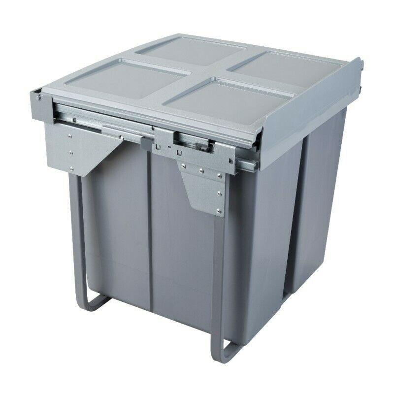 Pull Out Kitchen Waste Bin 2x34l 600mm Cabinet Furnica
