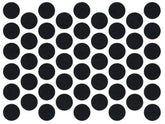 Screw cover caps Self-Adhesive - Black 14mm