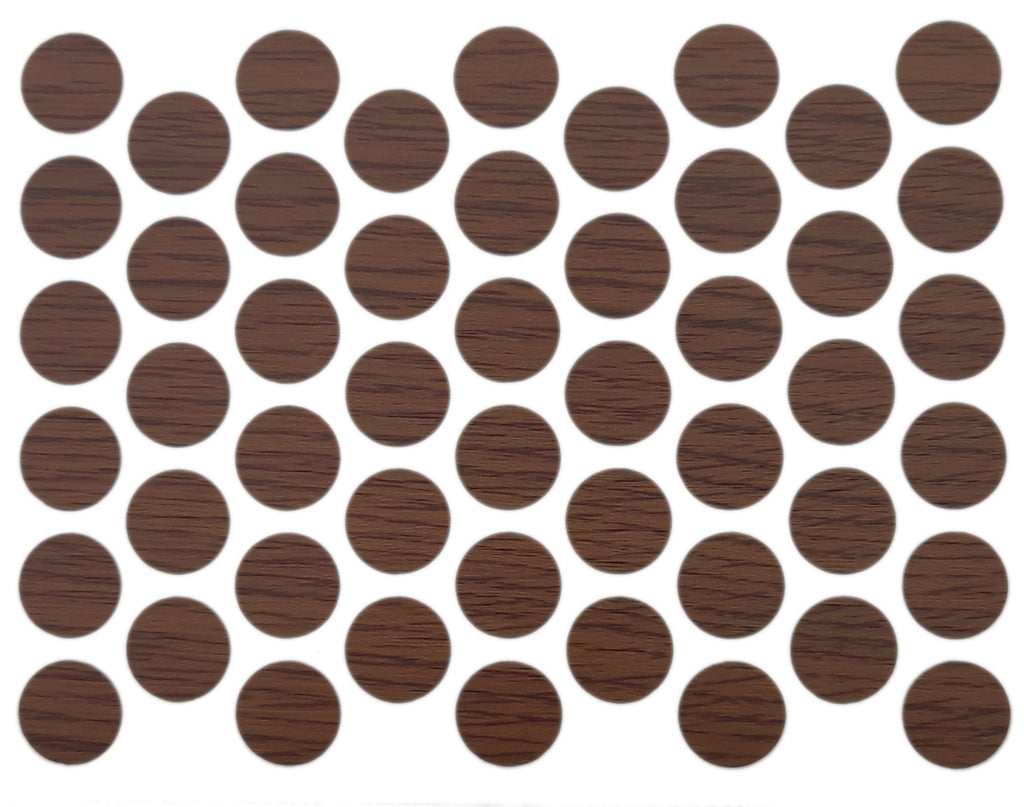 Screw cover caps Self-Adhesive - Milas Walnut 14mm