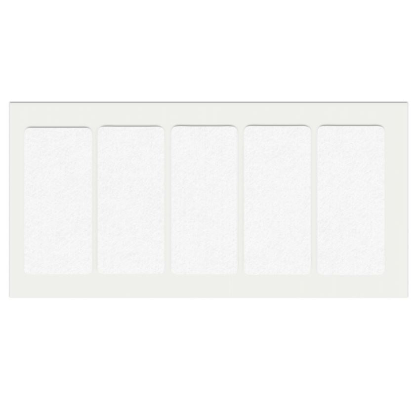 Self-Adhesive Felt Pad 40x90mm White