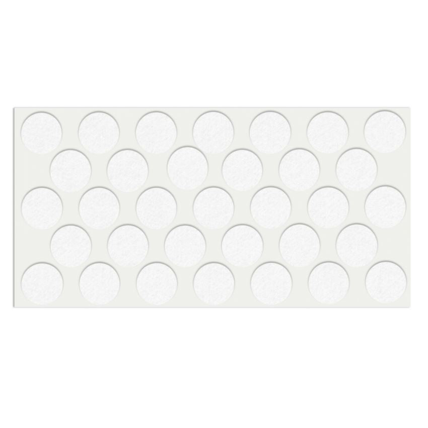 Self-Adhesive Felt Pad Ø24mm White
