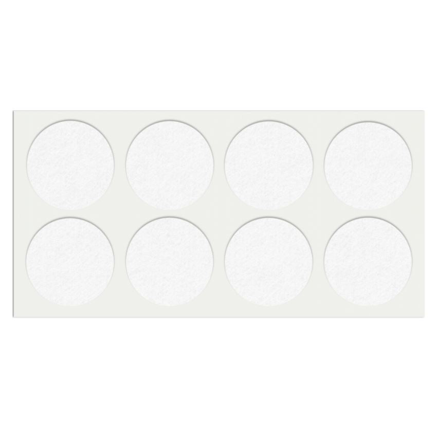 Self-Adhesive Felt Pad Ø50mm White