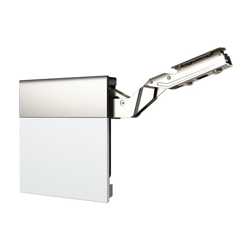 Soft Close Top Cabinet Lift System (L+R), White/Nickel