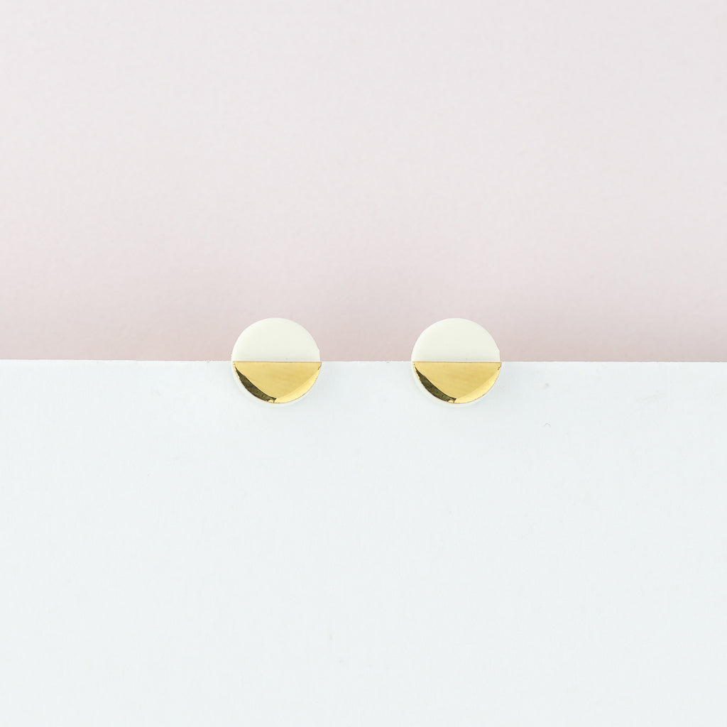 Sculptural White Studs (Wholesale) MOQ x2