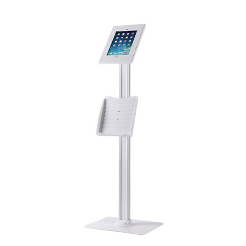 Anti-theft Steel Floor Standing Kiosk With Catalogue Holder - ThinPC