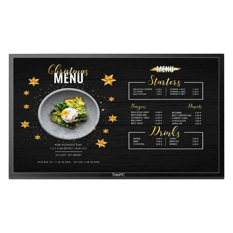 "55"" Signage screen with content management software - ThinPC"