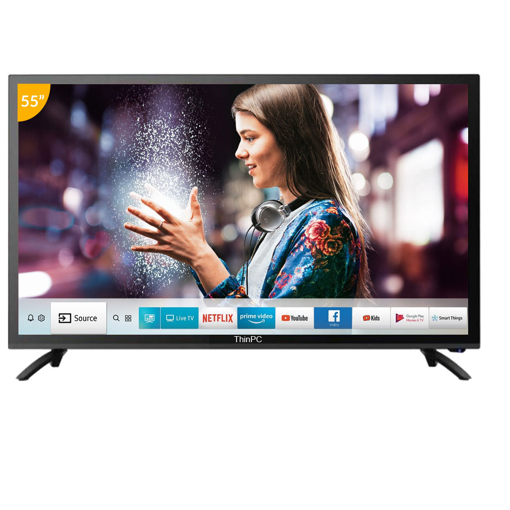 ThinPC 55 inch 4K SMART LED TV / 2 GB Ram / 8 GB Storage / Android 6.0 - ThinPC