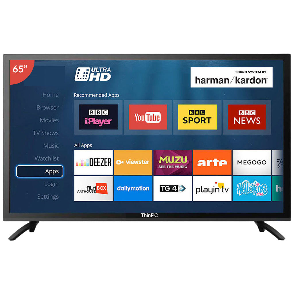 ThinPC 65 inch 4K SMART LED TV / 2 GB Ram / 8 GB Storage / Android 6.0 - ThinPC