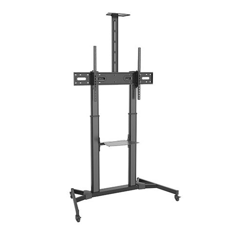 Height Adjustable Ultra-large Display Steel TV Cart - ThinPC