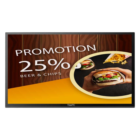 "50"" Signage screen with content management software - ThinPC"