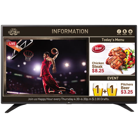 Model - 55LW540S FULL HD, Welcome Screen/ Video, SUPERSIGN , Ports – 2x HDMI, 1x USB, 1x VGA, AV, RF IN.