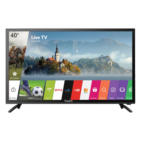 ThinPC 40 inch HD Ready Smart LED TV  / VGA  / HDMI / USB 2.0 / 1 YEAR WARRANTY - ThinPC