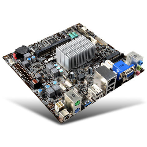 ECS J1900 Mini itx motherboard with celeron Quad Core 2.0ghz  &  Onboard DC Power Connection - ThinPC
