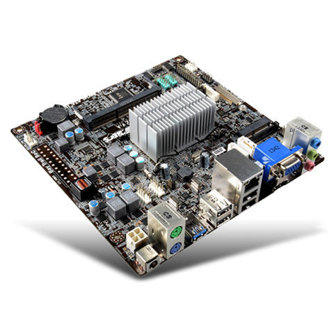 ECS J1800 mini itx motherboard with Dual Core 2.41 GHz processor &  Onboard DC Power Connection - ThinPC