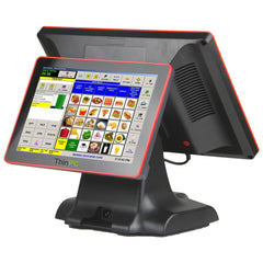 Dual Display Capacitive Touch Point Of Sale Terminal 15 / 12  Inche Computer - ThinPC