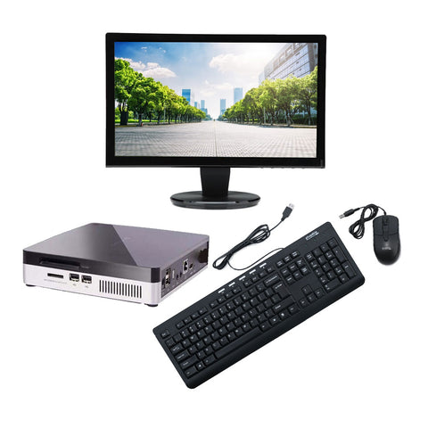 Lenovo Thinclient + HDMI LED + USB Keyboard and Mouse(Intel 1.2 GHz Processor / 2 GB RAM/ windows 7 home license)