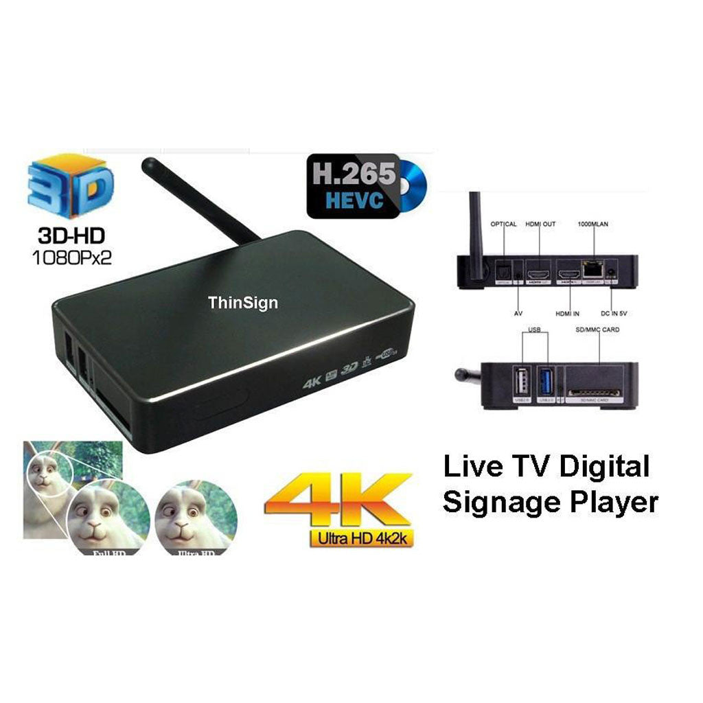 Digital Signage(TV Player)  with live tv - ThinPC