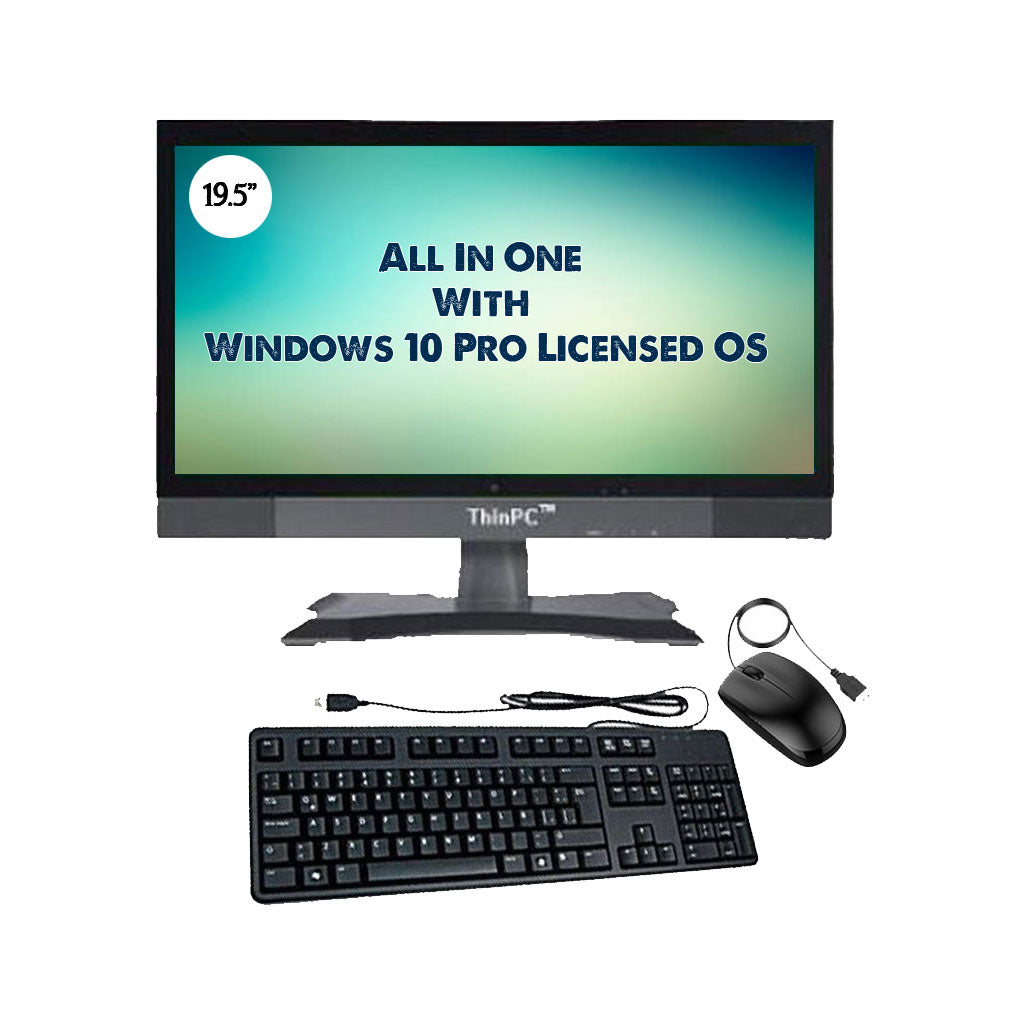 "All in one PC - J1900WP /  Window 10 Pro Licence OS / 19.5"" Screen / 4Gb ram / 32GB SSD - ThinPC"